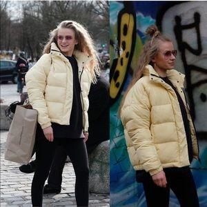 Yellow warm puffer jacket